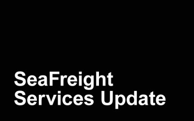 SeaFreight Services Update